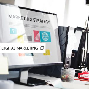 Monitor with marketing information on screen